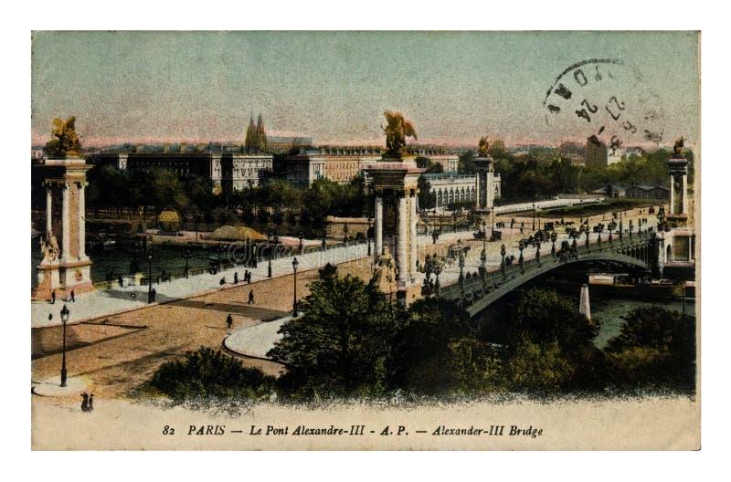 Parigi, Francia, ponte di Alessandro III, circa 1924, immagini stock
