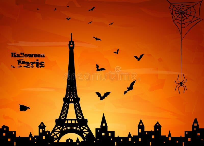 Parigi, Halloween royalty illustrazione gratis