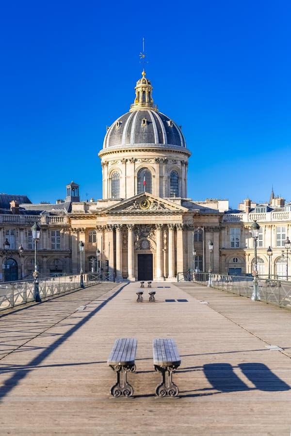 Parigi, il Pont des Arts immagini stock