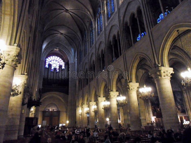 Parigi - organo della cattedrale di Notre Dame fotografie stock