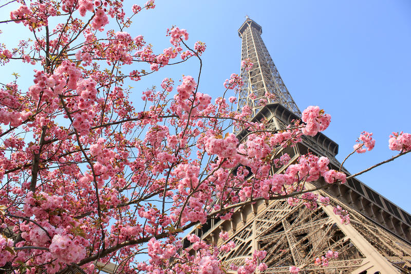 Parigi a primavera fotografia stock