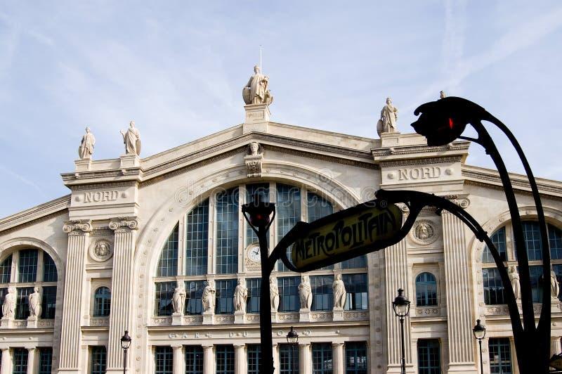Parigi Station Gare du Nord immagini stock