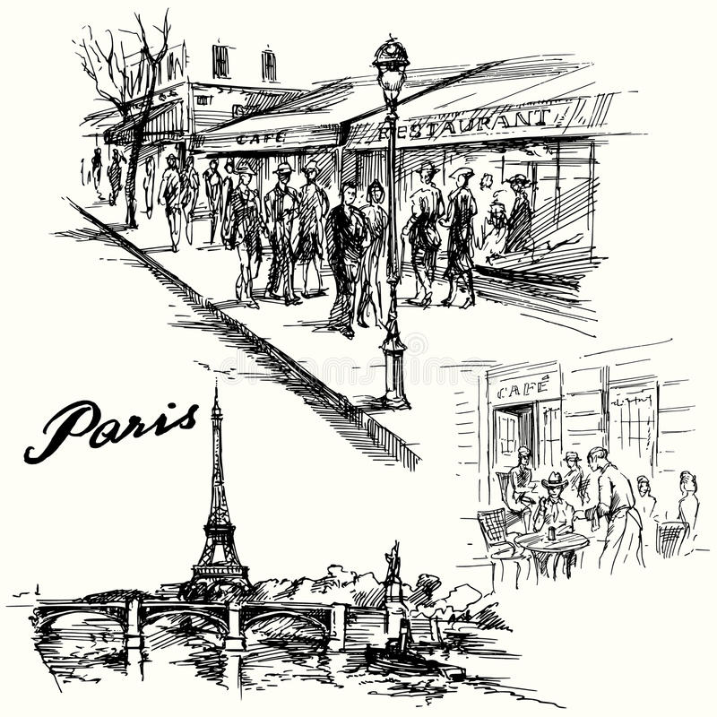 Parigi, Torre Eiffel royalty illustrazione gratis