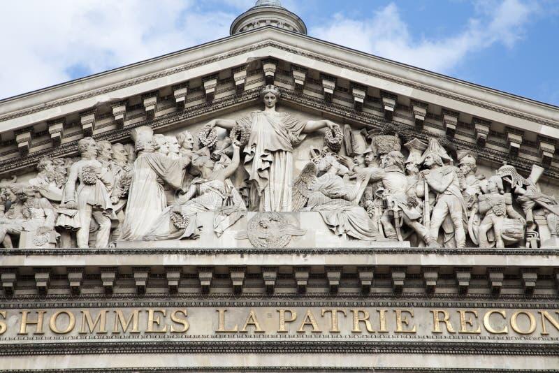 Parigi - Tympanon del panteon fotografie stock libere da diritti