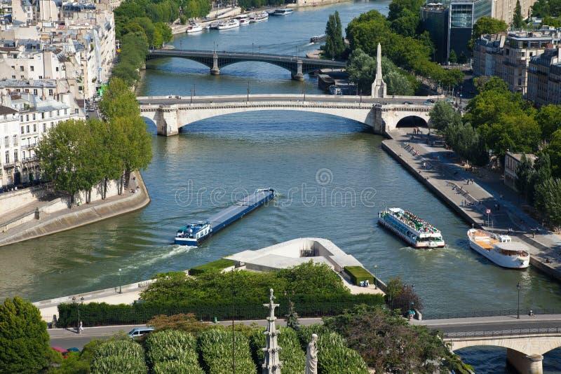 Parigi, vista del Seine immagini stock