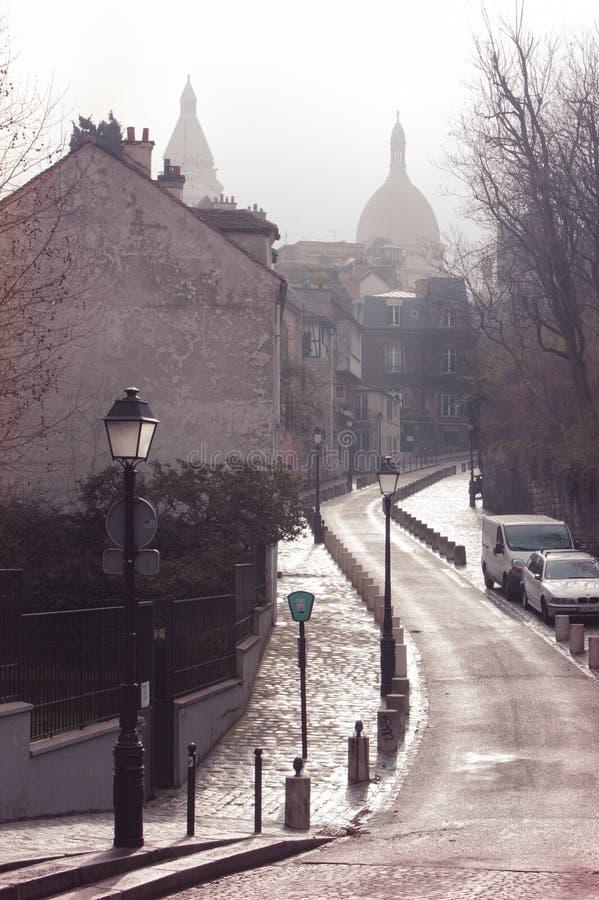 parigi Vista su Monmartre dal quadrato di Dalida immagini stock
