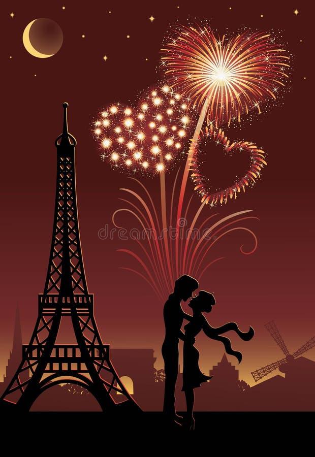 Parijs. royalty-vrije illustratie