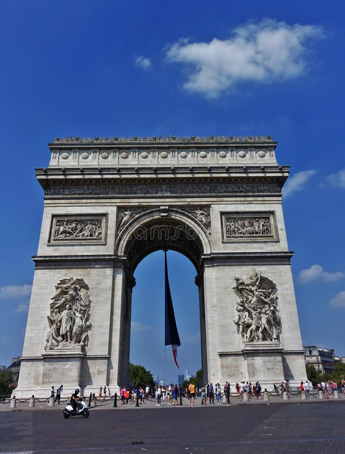 Parijs Arc de Triomphe stock fotografie