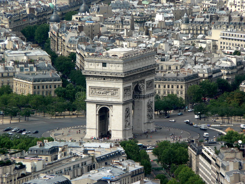 Parijs - Arc DE Triumph royalty-vrije stock afbeelding