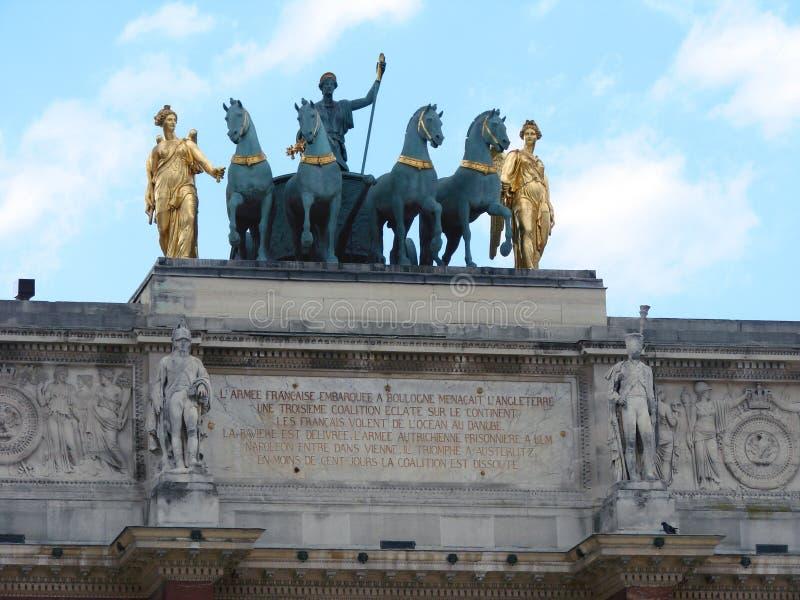 Parijs - Arc du Carrousel stock afbeeldingen