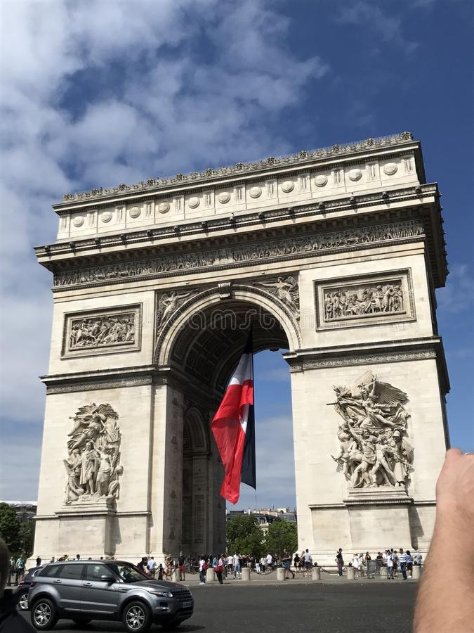 Parijs Arc du Triomphe royalty-vrije stock afbeeldingen