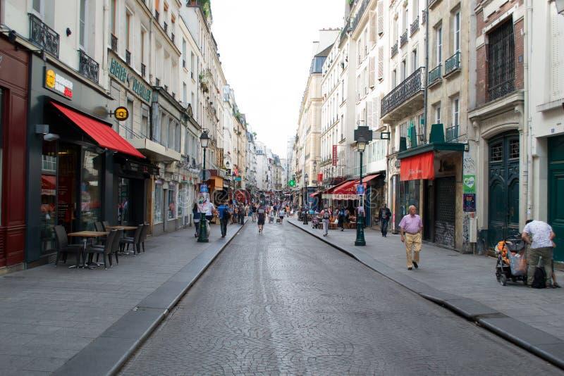 Parijs bij schemer royalty-vrije stock fotografie