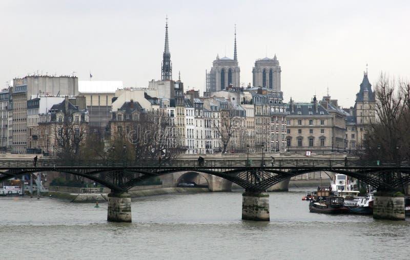 Parijs in de winter royalty-vrije stock foto's