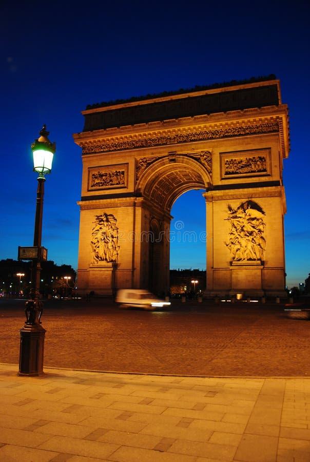 Parijs Frankrijk Arc de Triomphe stock foto