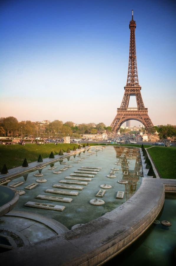 Parijs (Frankrijk) - de Toren van Eiffel royalty-vrije stock fotografie