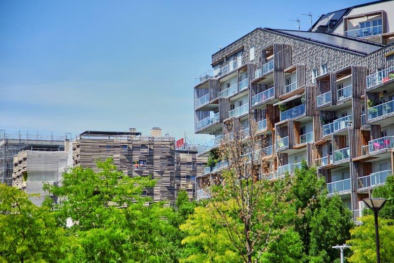 Parijs, Frankrijk - Juni 28, 2015: Eco-Quartier clichy-Batignolles royalty-vrije stock foto's
