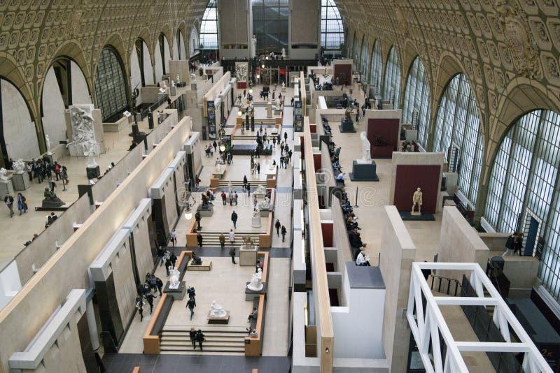 PARIJS, FRANKRIJK - 24 MAART, 2016: Binnenlandse mening van Musee D ` Orsay stock afbeeldingen