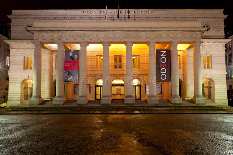 Odeon-theater DE l'Europe in Parijs stock afbeelding
