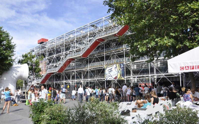 Parijs, het Centrum van Augustus 17.2013-Georges Pompidou stock foto
