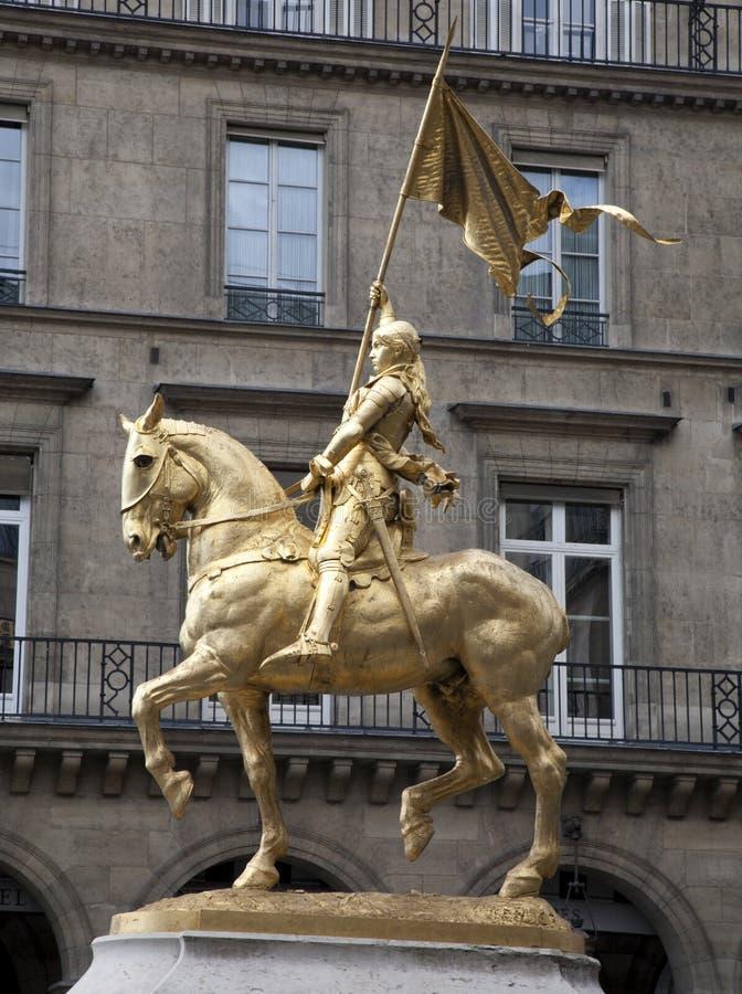 Parijs - Joan van het standbeeld van de Boog royalty-vrije stock foto