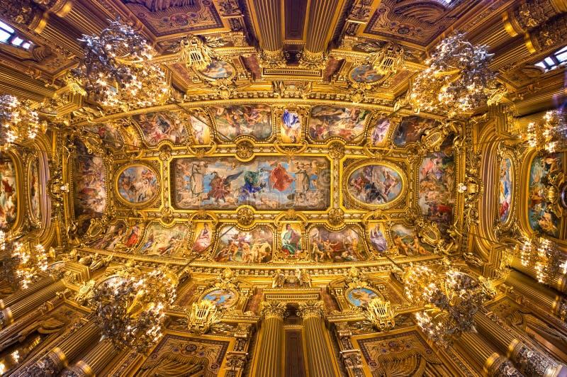 Parijs: Opera Garnier. royalty-vrije stock fotografie
