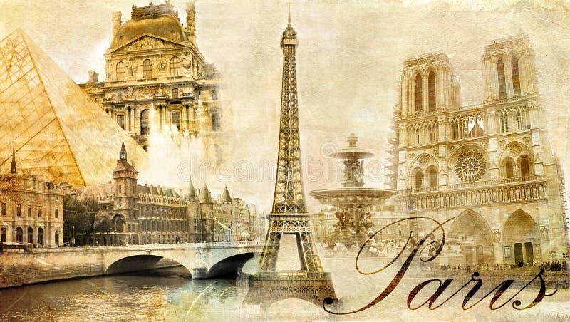 Parijs, Parijs? royalty-vrije illustratie