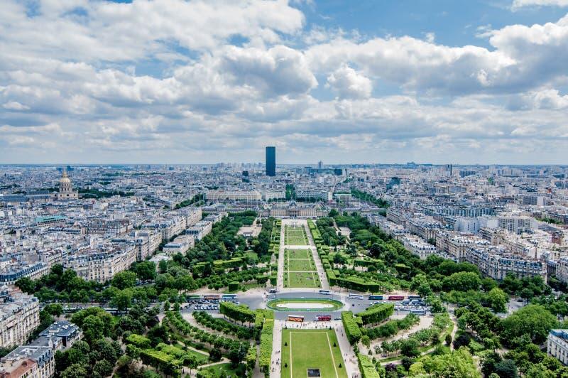Parijs van hierboven stock afbeelding