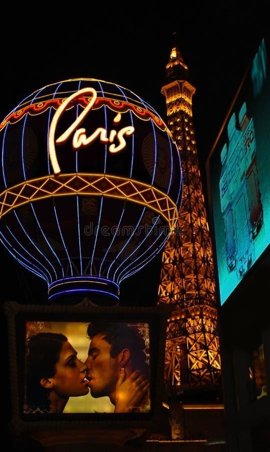 Parijs in Vegas stock afbeeldingen