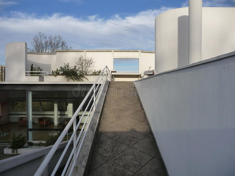 Parijs - Villa Savoye (Hoogste Buitenhelling) stock foto