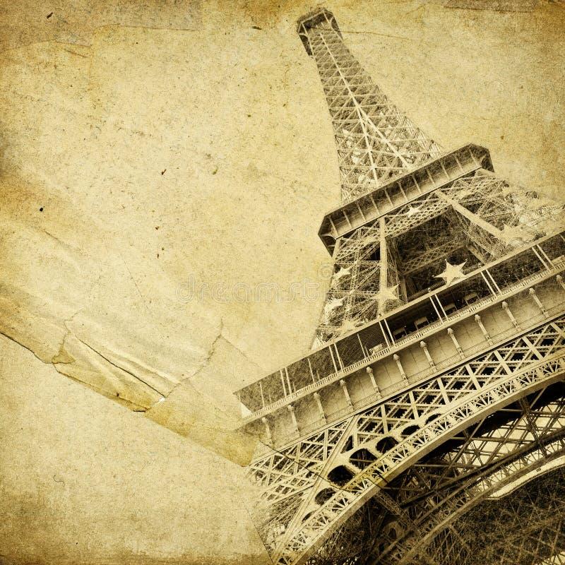 Parijse achtergrond stock illustratie