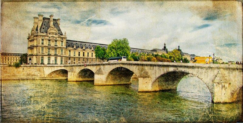 Parijse beeld - retro kaart vector illustratie