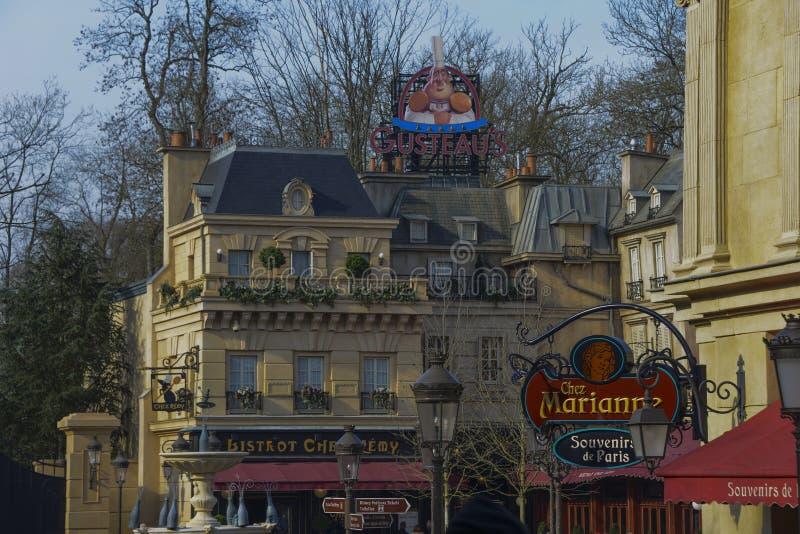 Parijse buurt in de Disney-Studio's, Parijs stock foto's