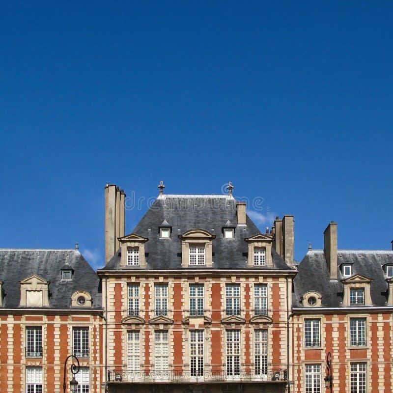 Parijse daken, Parijs, Frankrijk royalty-vrije stock foto's