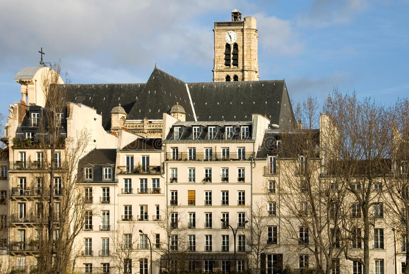Parijse Flats stock afbeelding