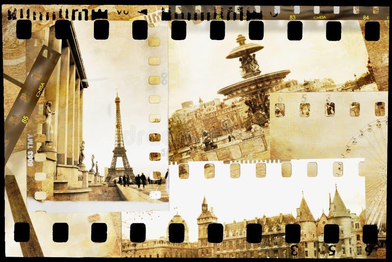 Parijse geheugen royalty-vrije illustratie