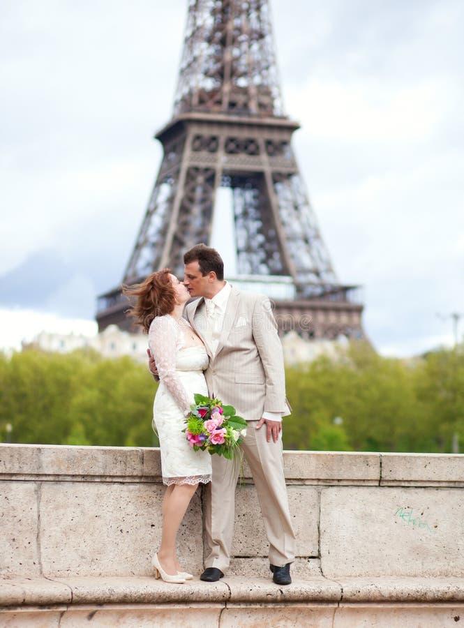 Parijse huwelijk stock fotografie