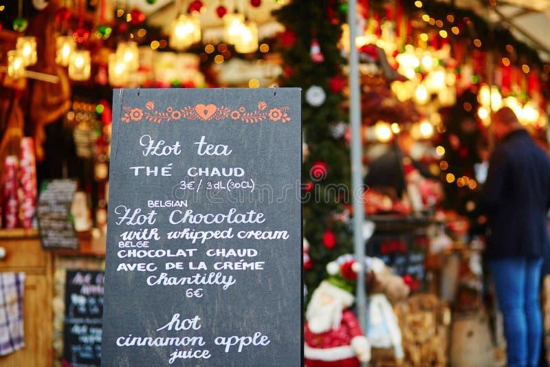 Parijse Kerstmismarkt stock afbeeldingen