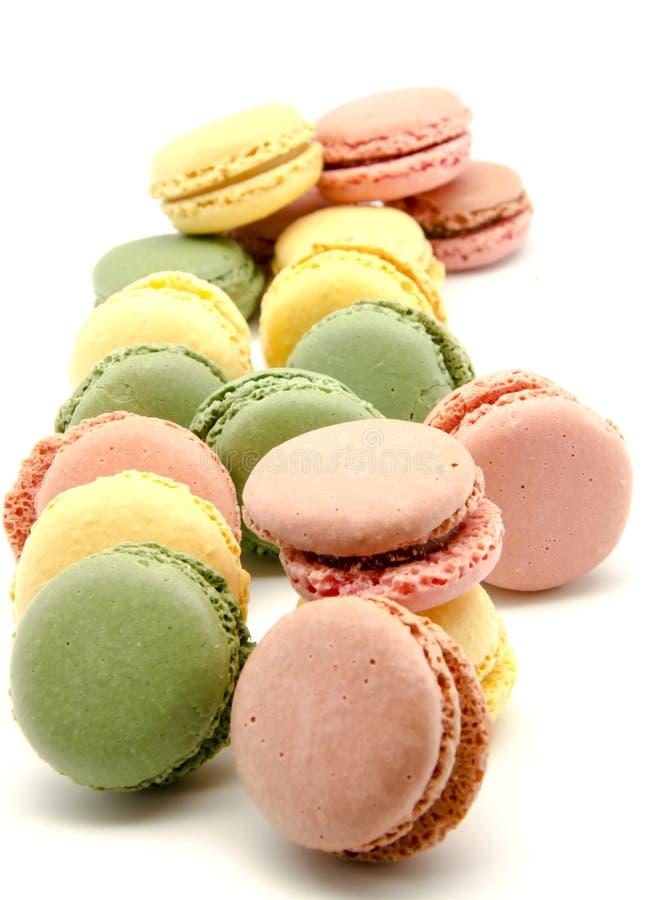 Parijse macarons royalty-vrije stock foto's