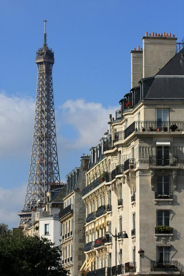 Parijse mening royalty-vrije stock foto's