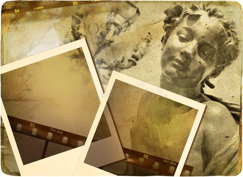 Parijse photoalbum stock illustratie