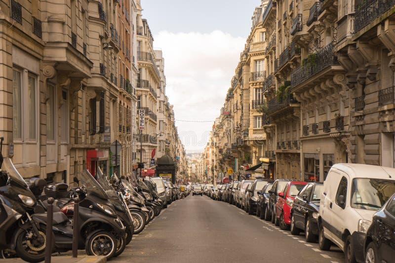 Parijse straat stock foto