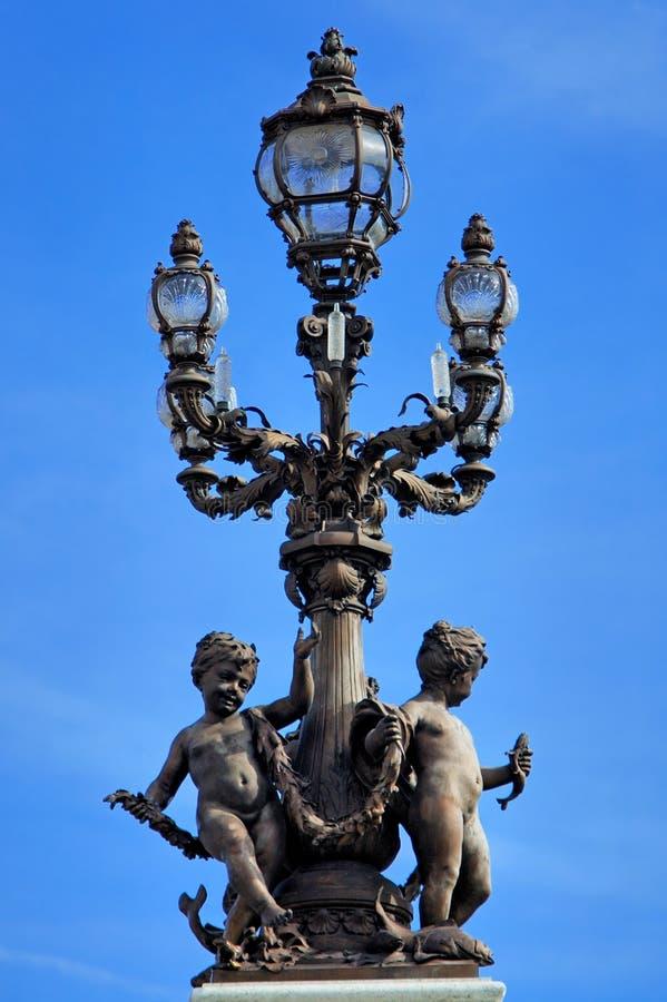 Paris światła france stara pocztę zdjęcie stock