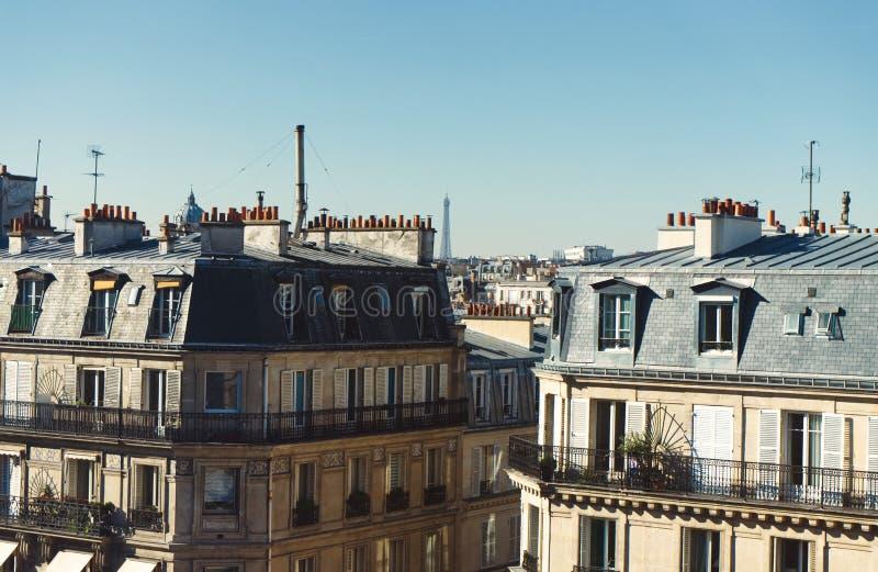 Крыши Парижа стоковая фотография rf
