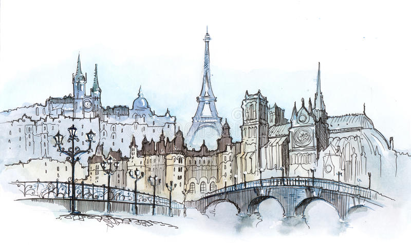Paris illustration stock