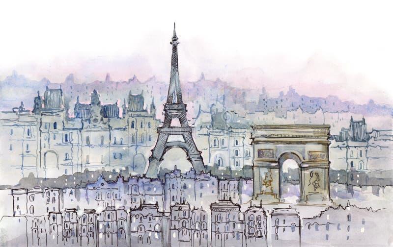 Paris illustration stock