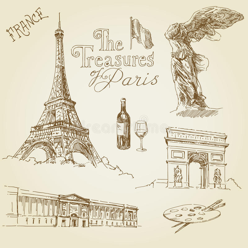 Paris. France - hand drawn collection