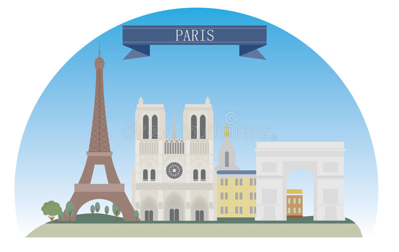 Paris stock abbildung