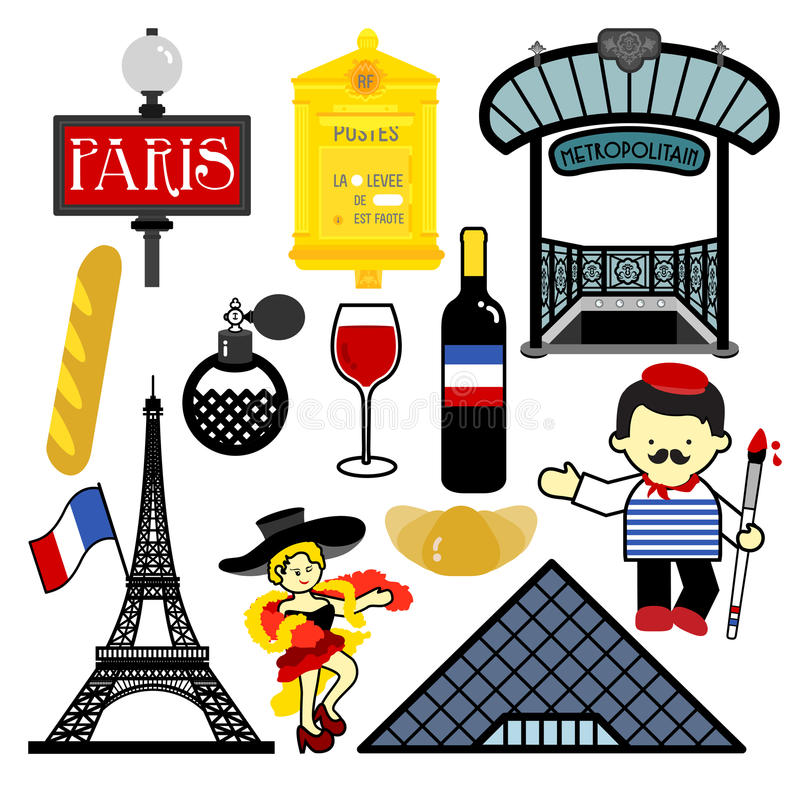 paris stock illustrationer
