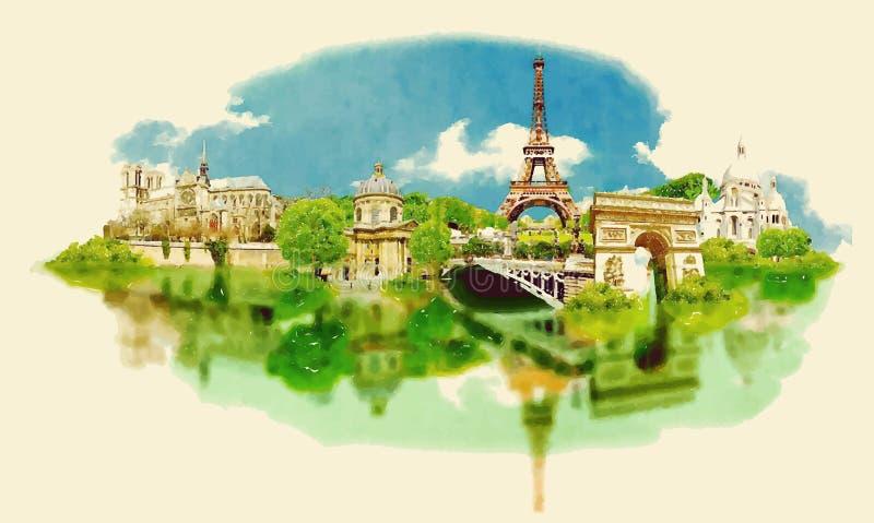 paris royalty ilustracja