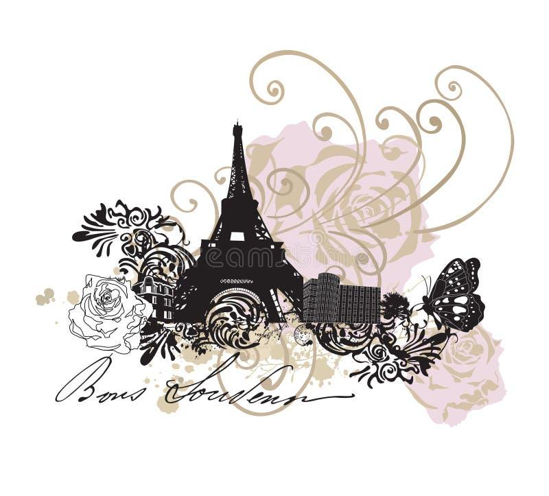 paris бесплатная иллюстрация